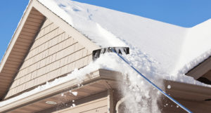 Snow on roof gutter guards paducah